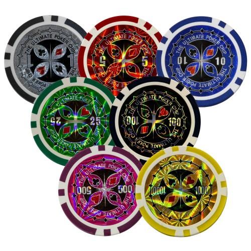 Maletín de Poker con 300 fichas de gran calidad y núcleo metálico