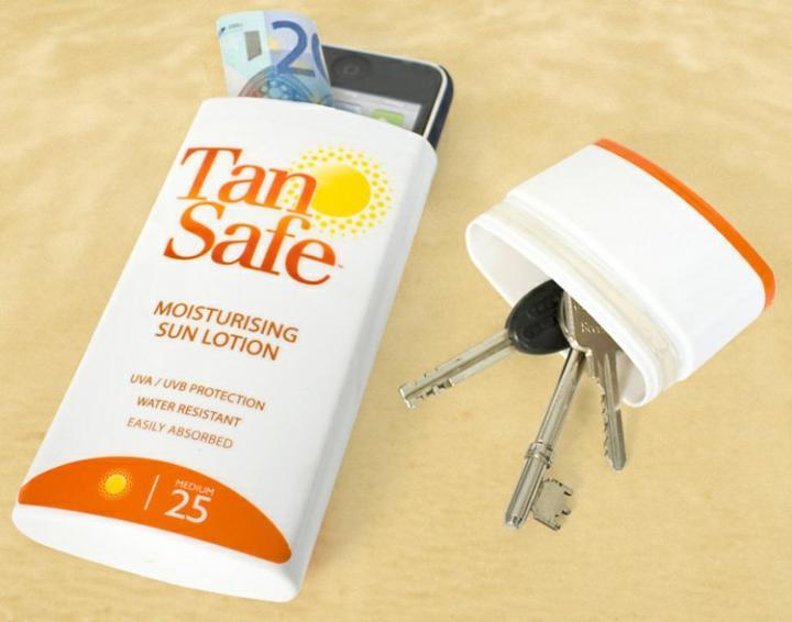Funda para guardar cosas con forma de protector solar