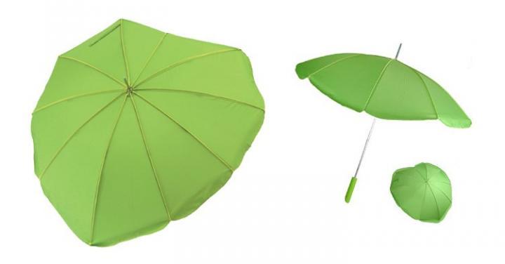 Paraguas con forma de hoja
