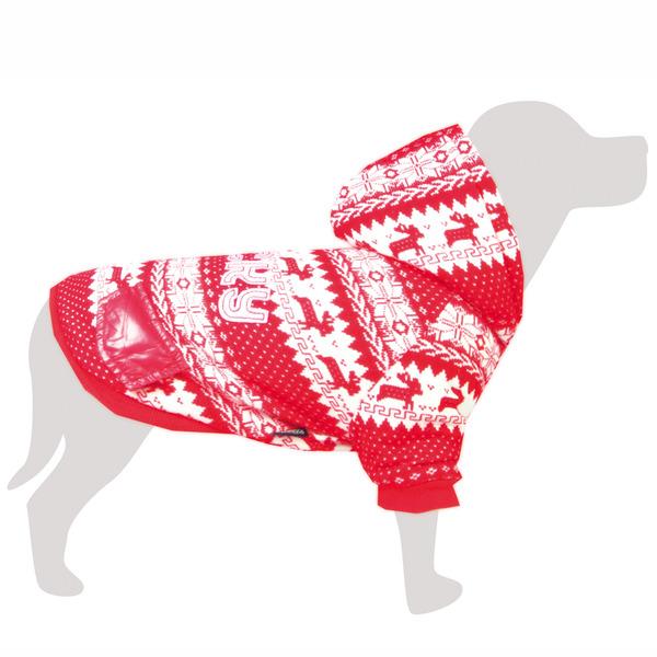 Abrigo Arquizoo Lucky Rojo para perros