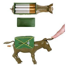 Porta Cigarros Gracioso con forma de Burro