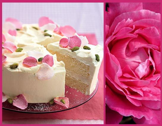 Pétalos azucarados de rosas