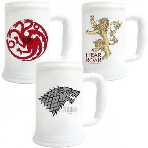 Jarras de cerveza juego de tronos