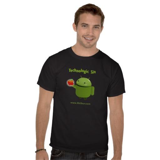 Camiseta Android - Logo Robot