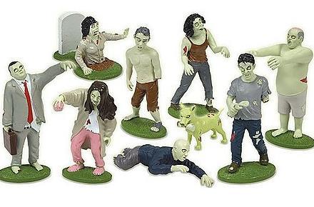 Figuritas de Zombies Fluorescentes