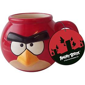 Taza `angry birds` pajaro rojo