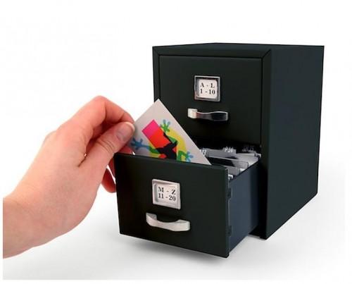 Mini archivador de tarjetas