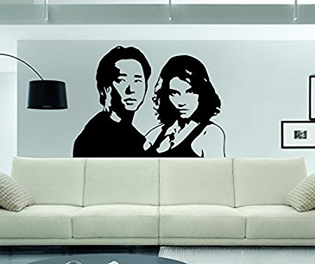 Adhesivo de pared The Walking Dead Glenn y Maggie