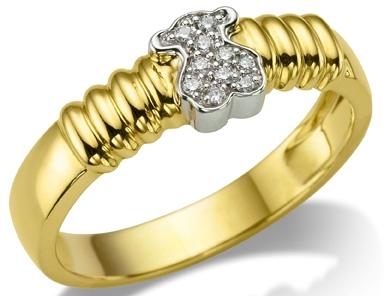 Anillo de Tous en oro y diamantes