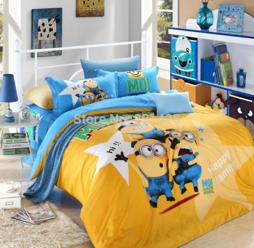 Edredon para cama de minion