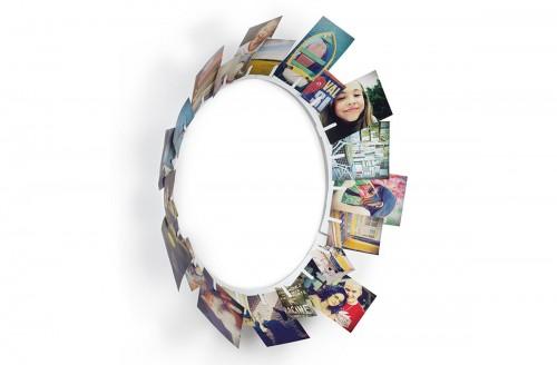 Marco circular de pared para fotos