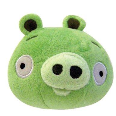 Mini cerdo de peluche con sonido color verde