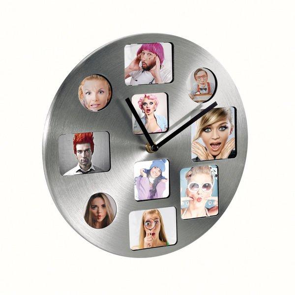 Reloj de pared para fotos