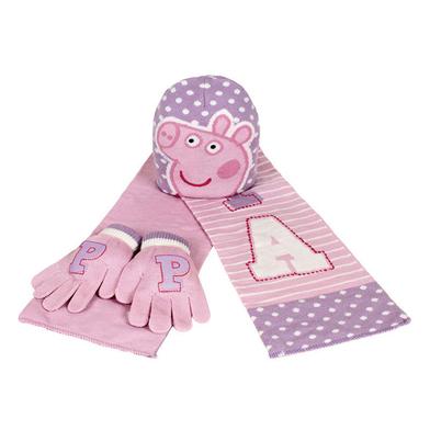 Set bufanda gorro guantes Peppa Pig jacquard