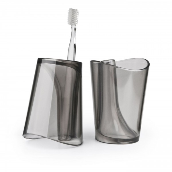 Vaso para enjuague bucal y porta cepillo dental `Flip Cup`