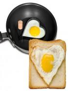 Sarten molde corazón para huevos fritos