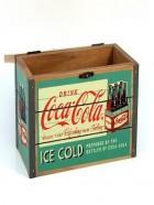Caja de madera de coca-cola pequeña