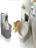 Arenero para gatos autolavable