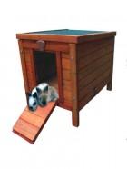 Caseta de madera para conejos y roedores