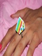 Anillo tarta  de arcoiris