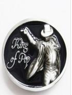Cinturon de hebilla vintage Rey del pop Michael Jackson negro