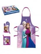 Frozen  Set cocina con delantal, guante y agarrador