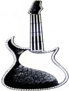 Glittery Guitarra Espejo Mosaico